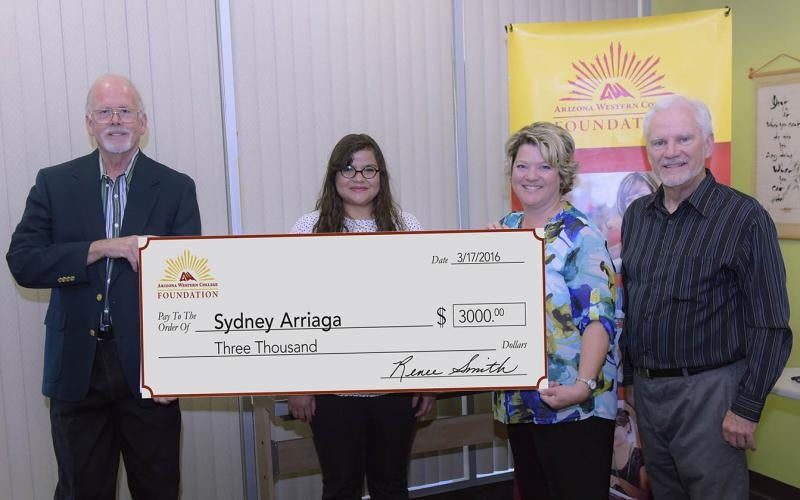 Sydney Arriaga receives scholarship for summer study abroad from AWC Foundation